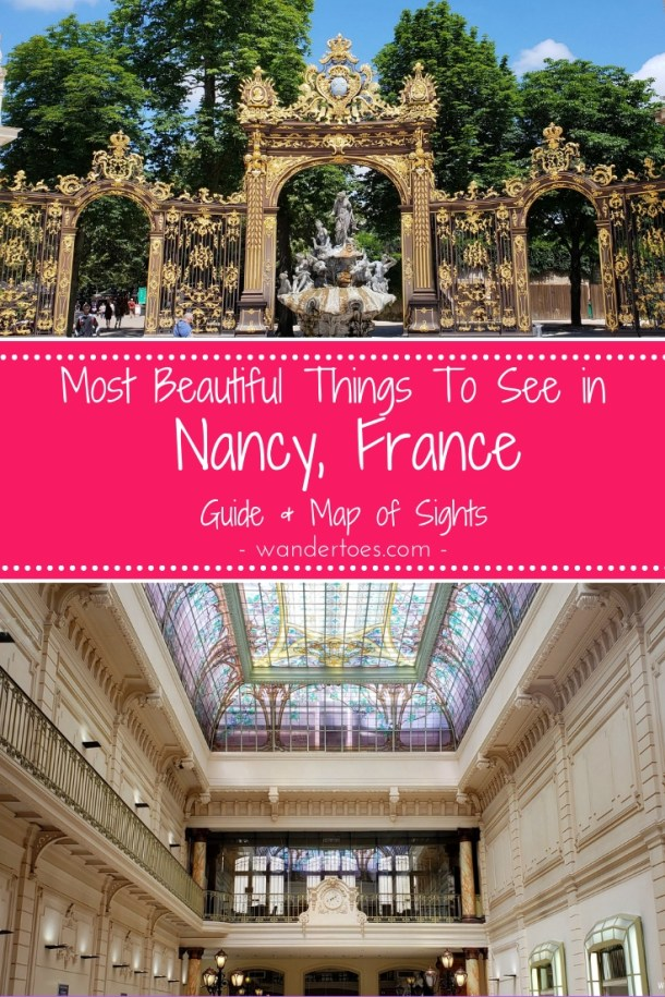 Nancy, France:  Use this list of beautiful things to do in Nancy France (map included) to walk through the world heritage sites, old town, the art nouveau Charles III area, and more!   Use this list of things to do in Nancy France (map included) to walk through the world heritage sites, old town, the art nouveau Charles III area, and more!
