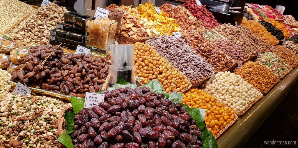 La Boqueria Barcelona Dry Goods display