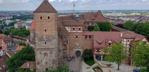 Castle Nuremberg in Nuremberg Old Town