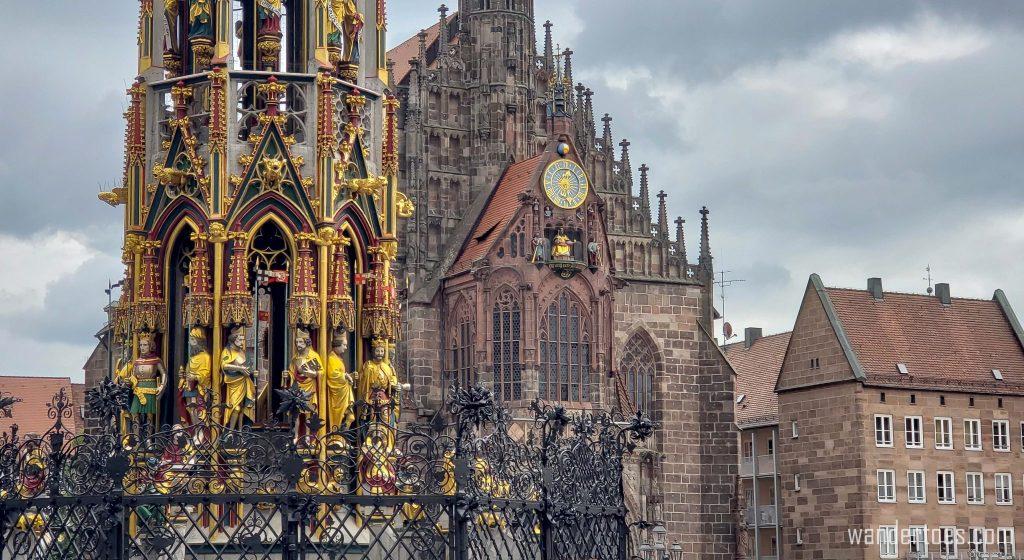 Old Town Nuremberg Schoner Brunnen