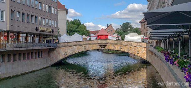 Old Town Nuremberg historic bridge | Fleischbrucke: Meat Bridge