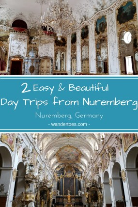 Nuremberg, Germany:  Ready to plan your day trips from Nuremberg?  Let me help you with two options that have beautiful UNESCO old towns, and are easy to reach by train.  #Nuremberg #Daytrips #UNESCO #Germany #OldTown #GermanybyTrain