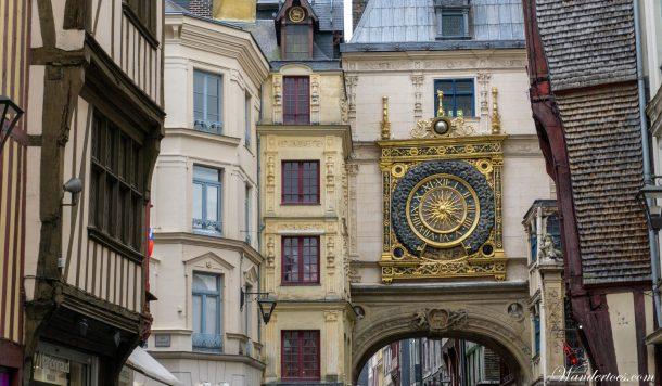 Day trips from Paris by Train | Rouen Gros Horloge | Train Paris Rouen