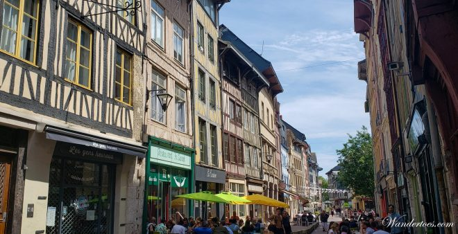 Rue du Robec | Is Rouen worth visiting | Train Paris Rouen