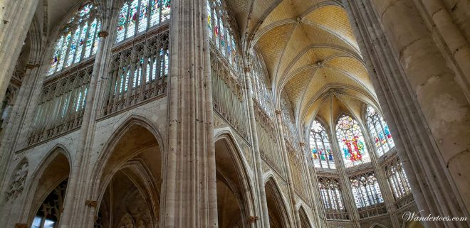 Rouen Saint Owen Abbey Church Ceiling and stained glass | Rouen Day Trip | Is Rouen worth visiting?