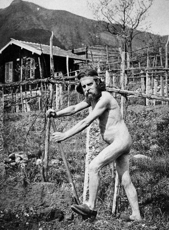Monte Verité - Le travail du jardin et des champs en 1907