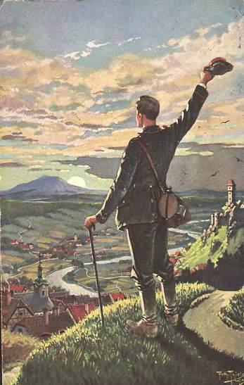Arthur-Thiele-Wanderer-gruesst-seine-Heimat- Wandervogel France - Mouvements de jeunesse