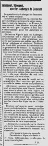 L'avenir de bougie - 16.03.1939 - Les auberges de jeunesse