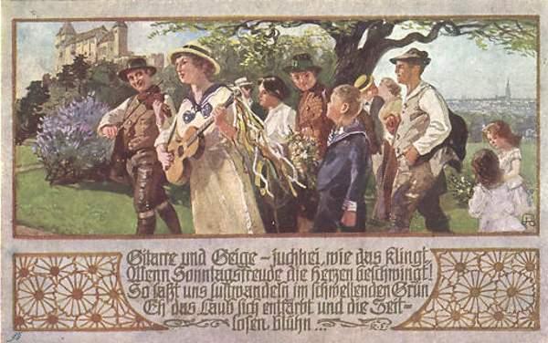 Wandervögel: Avec guitare et violon, le chemin parait moin long...