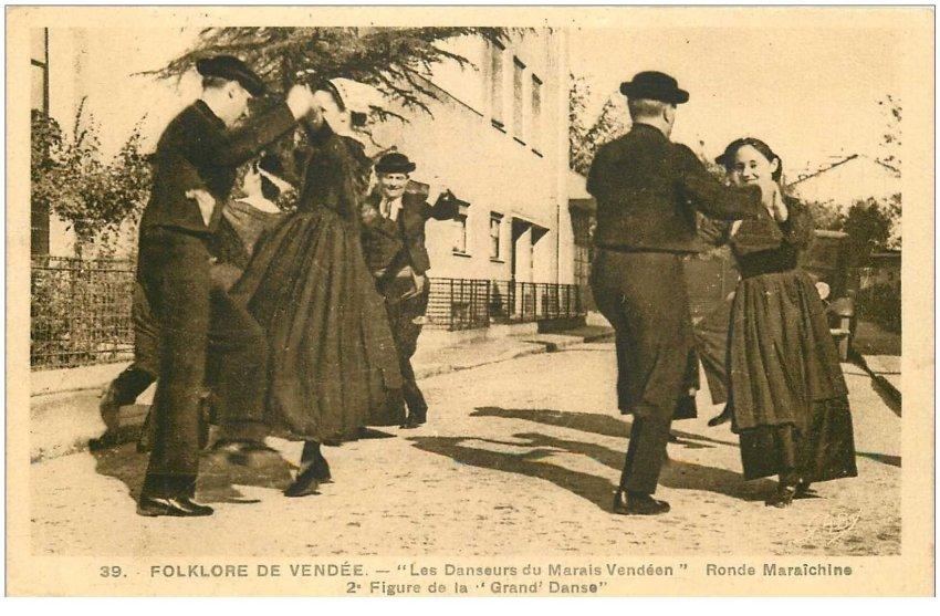 Les Danseurs du Marais Vendéen. Ronde Maraîchine ett Drand Danse 1940