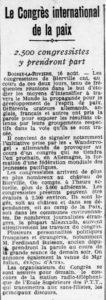 1926-08-17_L'Ouest-Éclair_Rennes_Congrès internationnal pour la paix_Wandervogel