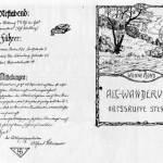 Invitation d'une randonnée Wandervogel vers 1910