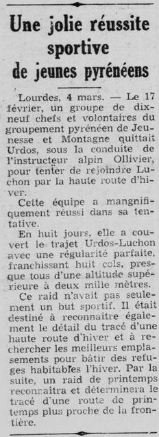 1942-03-04_La Gazette de Bayonne..._Une jolie réussite sportive de jeunes pyrénéens