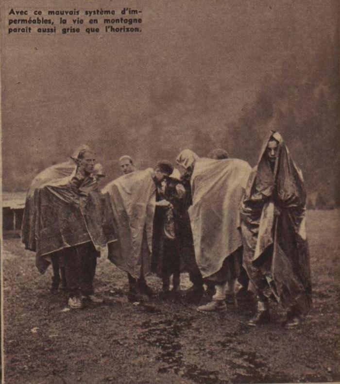 Camping hivernal - Avec ce maivais système d'imperméable, la vie en montagne parait aussi grise que l'horizon