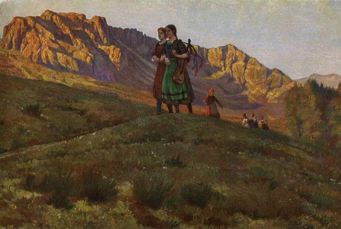 Robert Kämmerer - Jeunes filles en randonnée