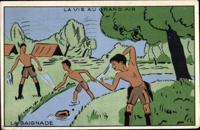 Scoutisme - La Vie au Grand Air, La Baignade