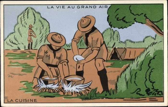 Scoutisme - La Vie au Grand Air, La Cuisine