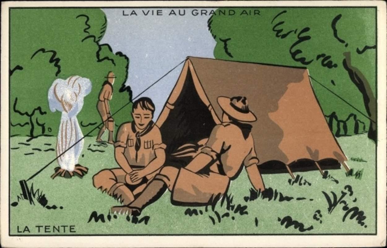 Scoutisme - La Vie au Grand Air, La Tente