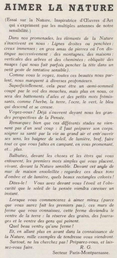 1938-06_L'Ami de la nature_Aimer le nature