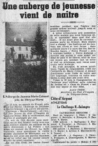 1938_06_09_Le_Populaire_L'auberge de jeunesse Marie Colmont
