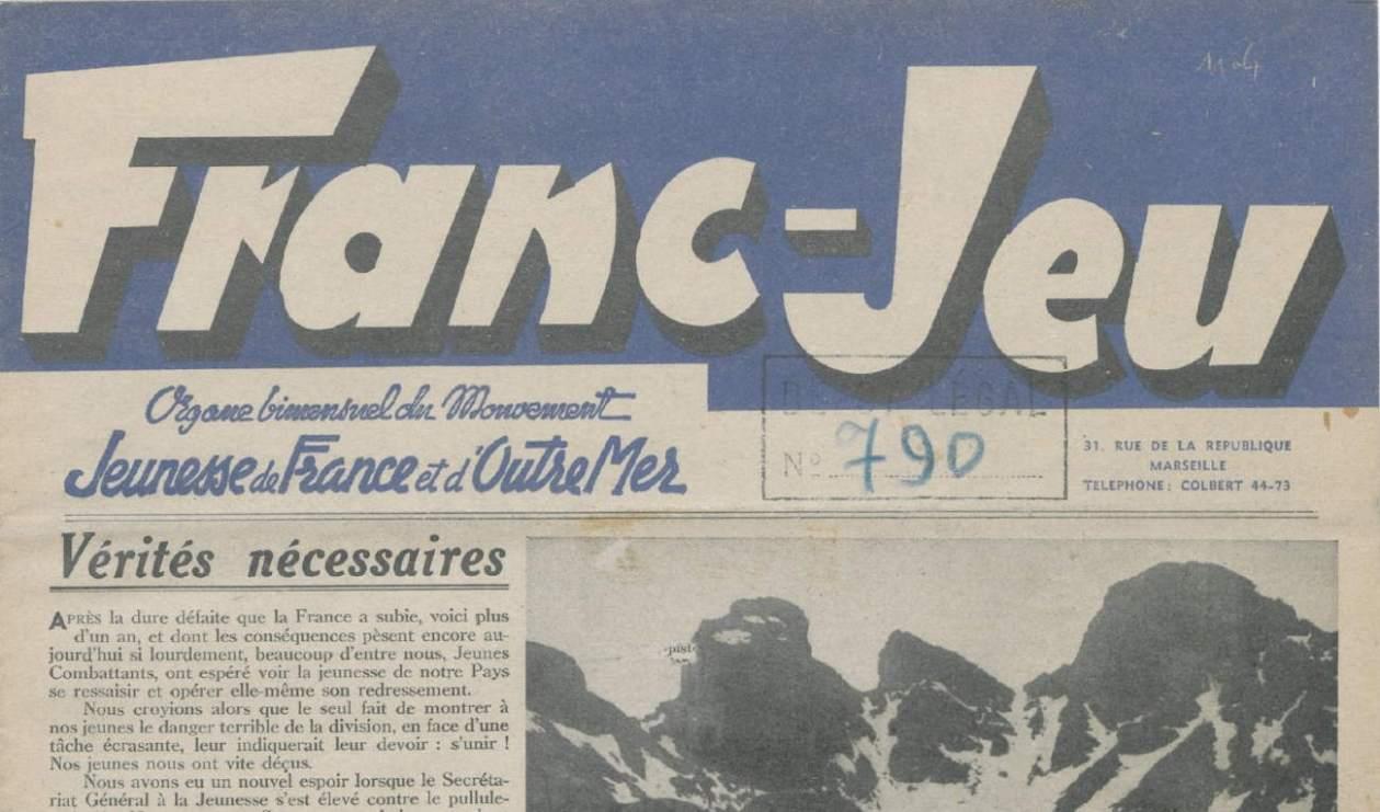 Franc-Jeu_Organe du mouvement Jeunesse de France et d'Outre Mer_n°4_25-10-1941