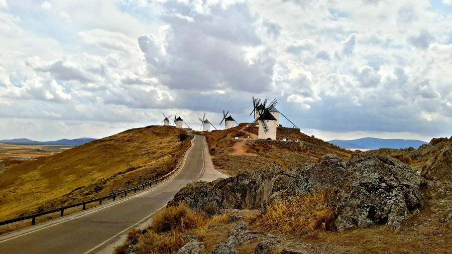 Don QUijote's Windmills in Cosuegra, Spain