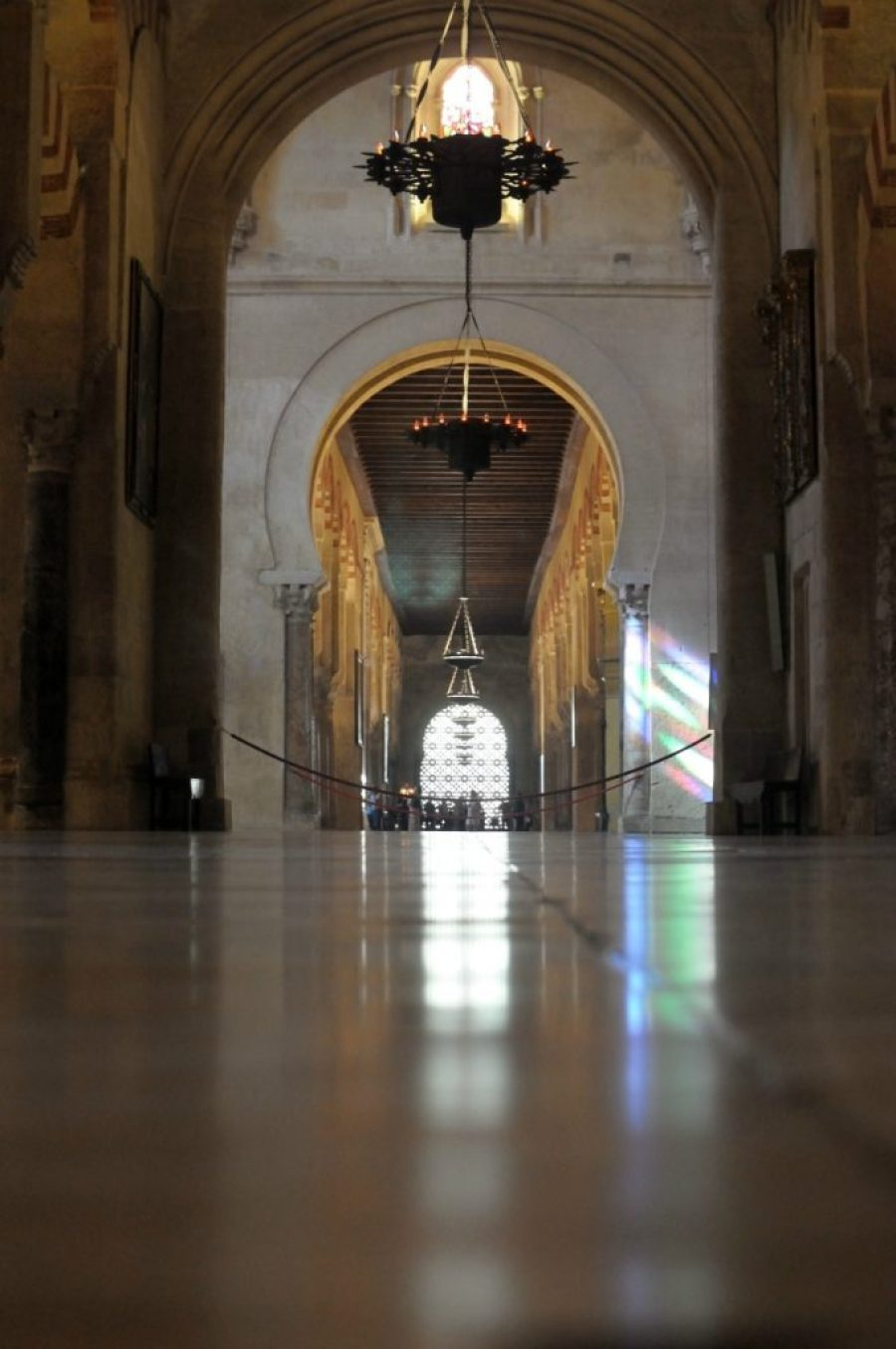 The stunning interior of the Mosque of Cordoba, Spain