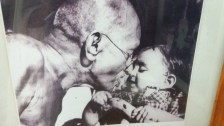 My favourite picture. Innocence of Gandhi and the child.
