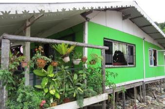 fishermen houses in village