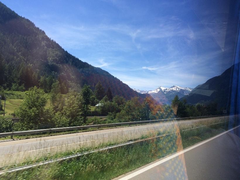 Switzerland coach view