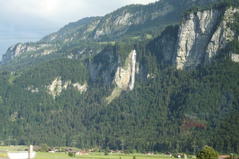 Mountain waterfall switzerland