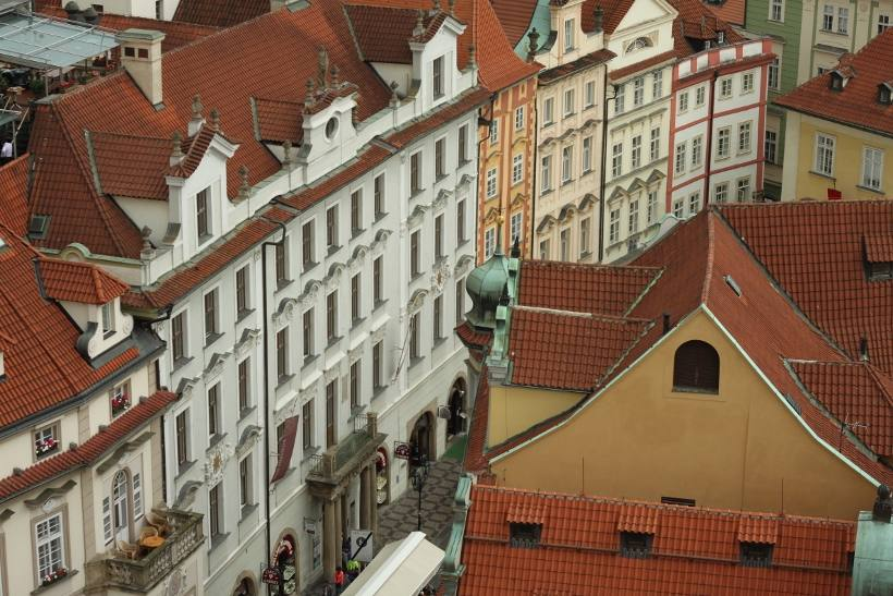 Prague tower view