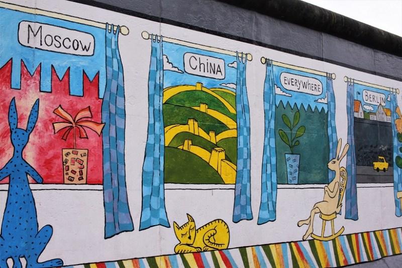 East side gallery windows