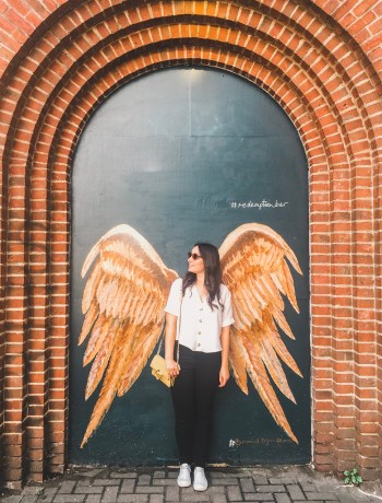 Angel wings in Shoreditch