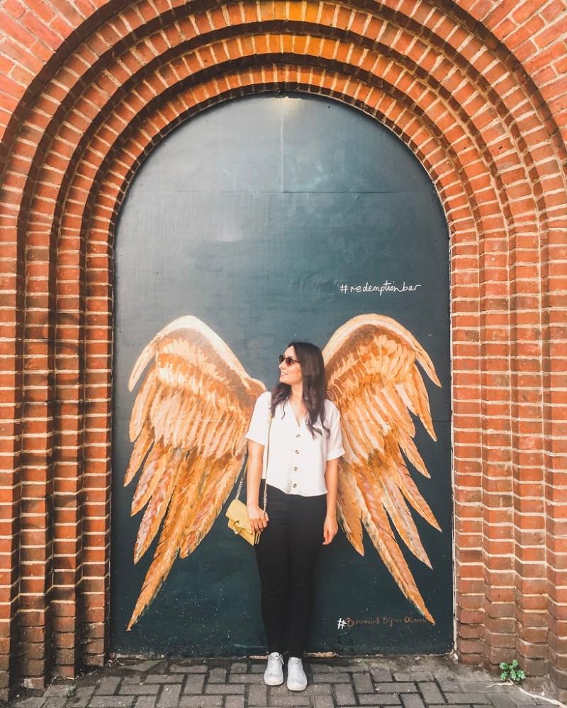 Angel wings in Shoreditch