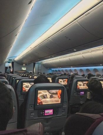 Qatar Airways economy cabin