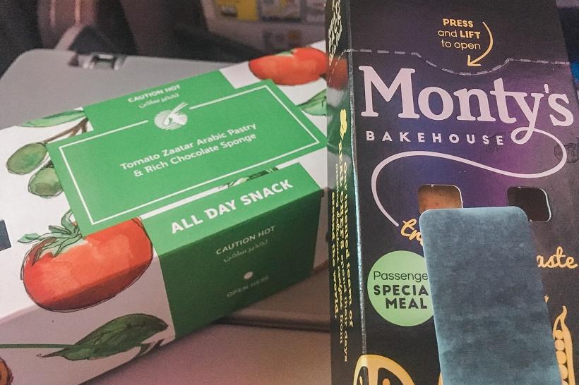Qatar Airways vegetarian snack
