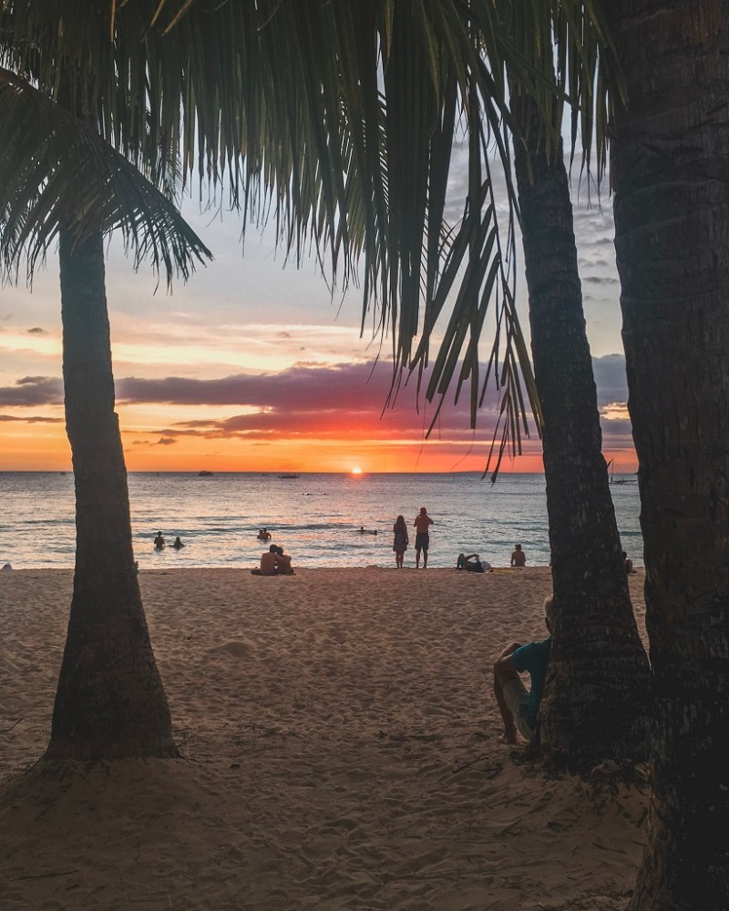 Boracay sunset white beach