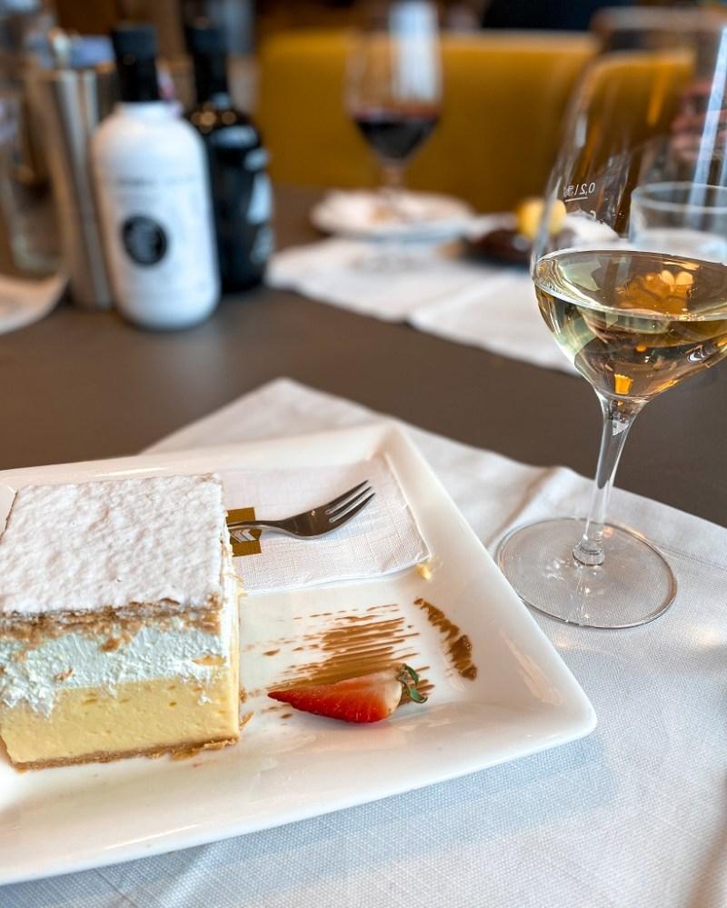 Cream cake at Park Restaurant, Lake Bled
