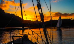 Sunset from the Lois Mae - Hawaii Ocean Photography