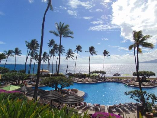 view of the Hyatt Hotel in Maui
