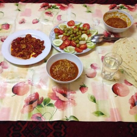 Afghanisches Abendesssen