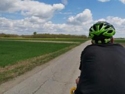 Kroatische Dörfer - und zwischendrin: Felder.