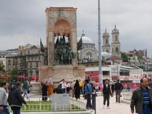 Taksim-Platz. Bekannt durch die Taksim Proteste.