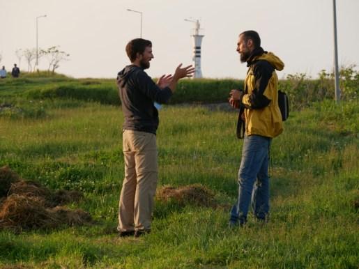 Daniel and Bahadir discussing.