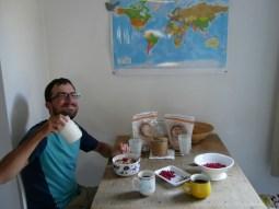 Johanisbeeren zum Frühstück und ein Joghurt Pfandglas!