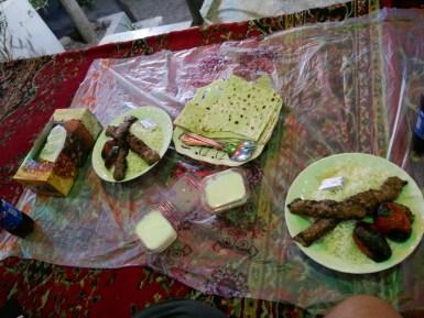 Kebab iranian style.
