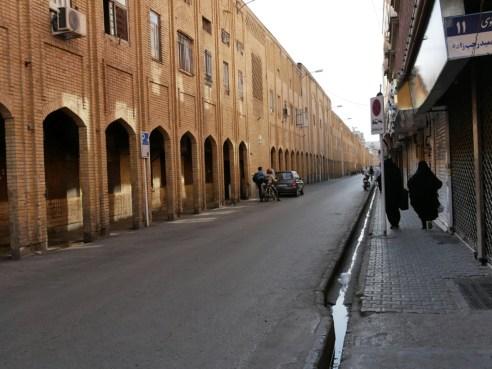 Bazaar street in Mashad.