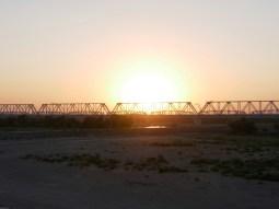 Eisenbahnbrücke Turkmenabat// Train bridge Tukmenabat