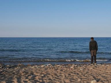 Der Mann und das (kirgisische) Meer.// The man and the (kyrgyz) sea.
